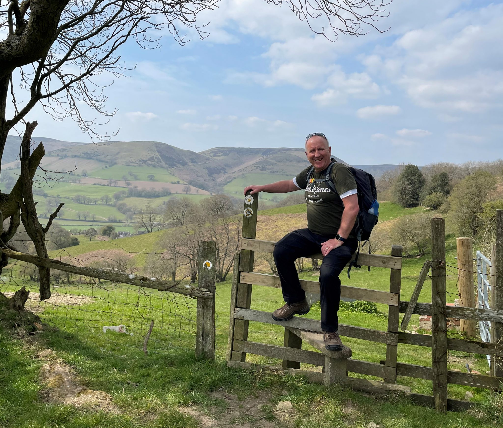 Ian in Church Stretton on one of his first climbs