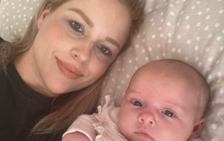 Mum Beckie with baby daughter Mollie