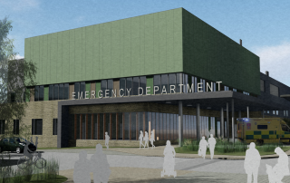 Artist's impression of how the outside of the department will look