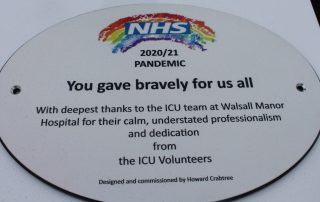 Wording on the special plaque made for Critical Care