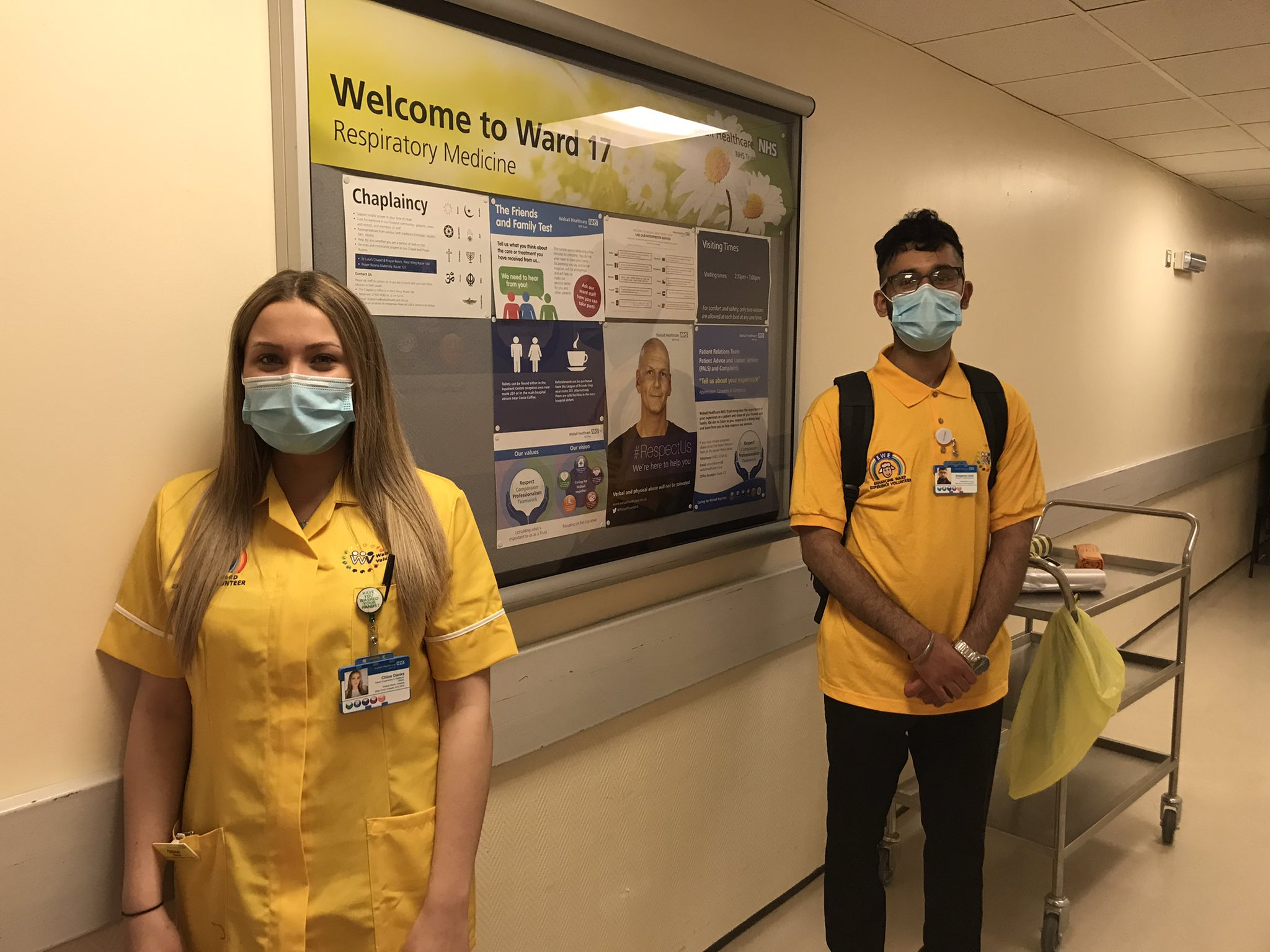 The EWE team of volunteers at work in the hospital
