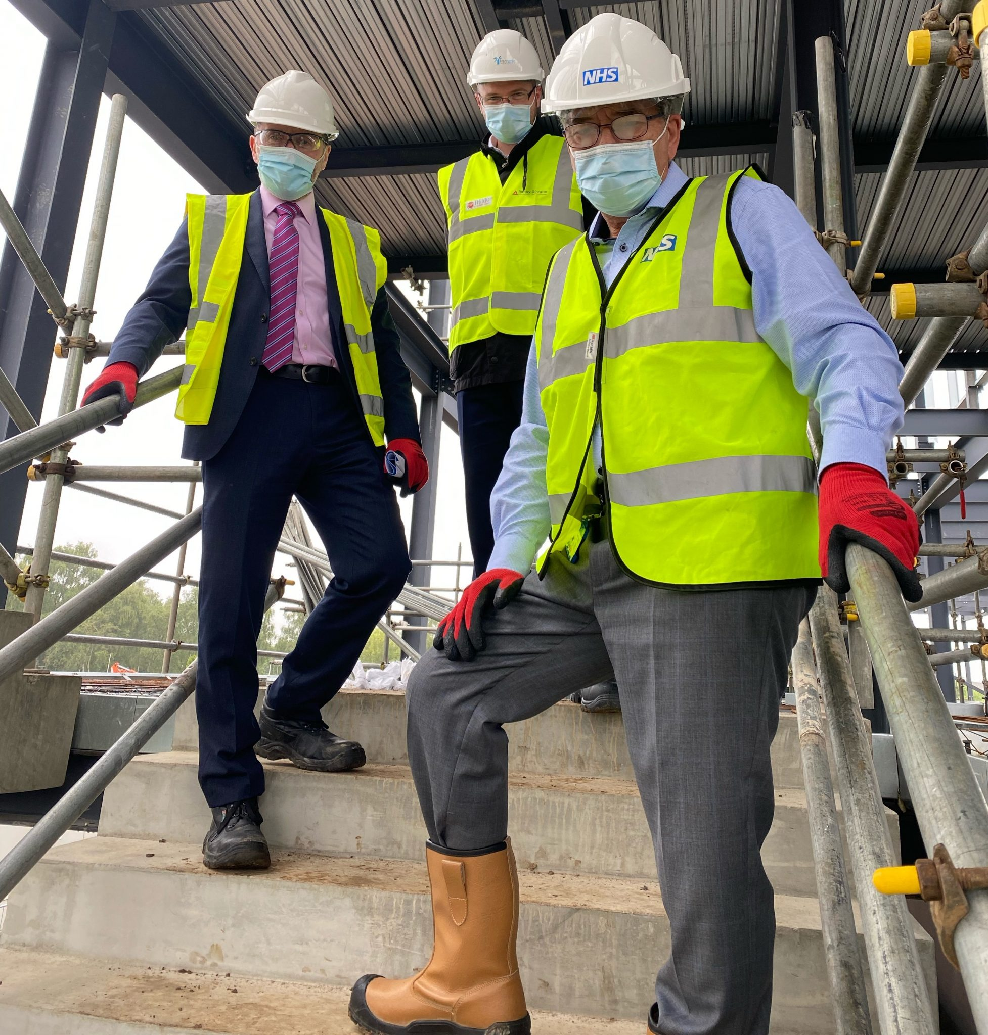 Mp Eddie Hughes looks around the site of Walsall's new ED