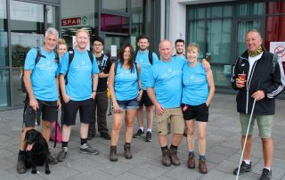 Ian and walk supporters at the end of their 26 mikles