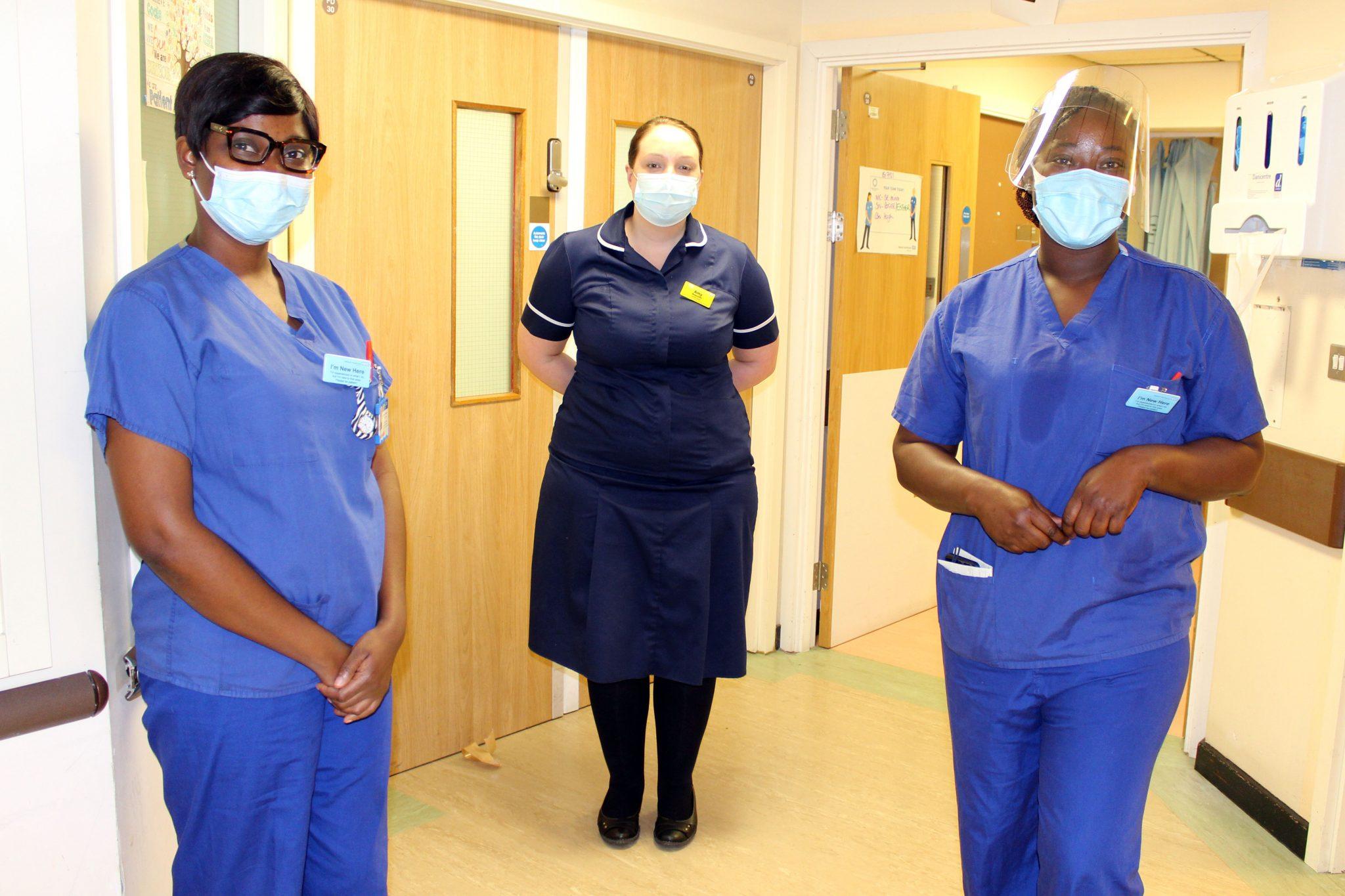 amy with international nurses