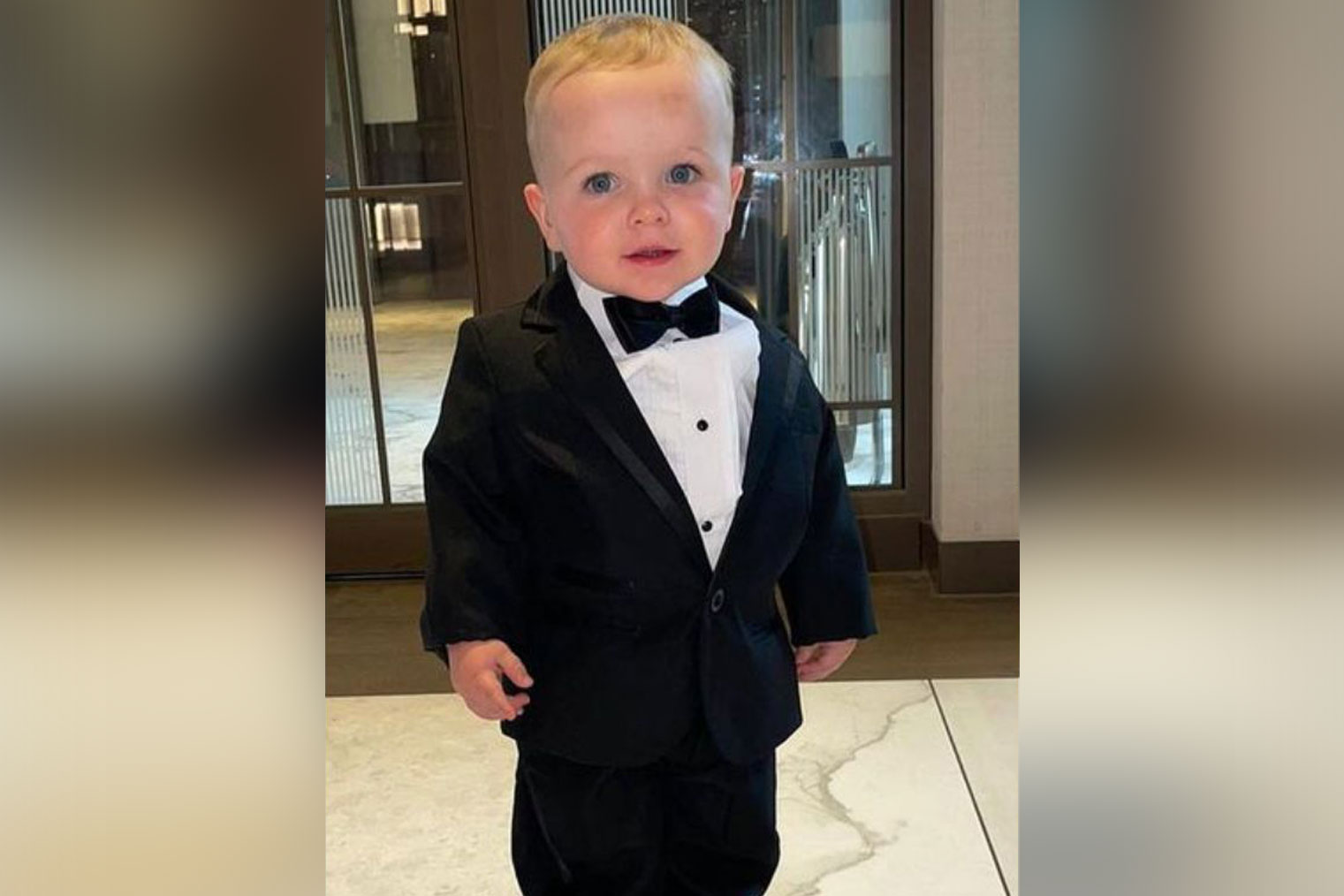 Little Oscar all dressed up
